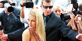 bodyguard protecting celebrity woman