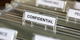 file labeled confidential