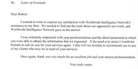 testimonial letter for litigation support