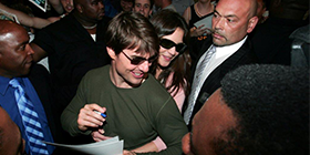 tom cruise with katie holmes protected by bodyguards
