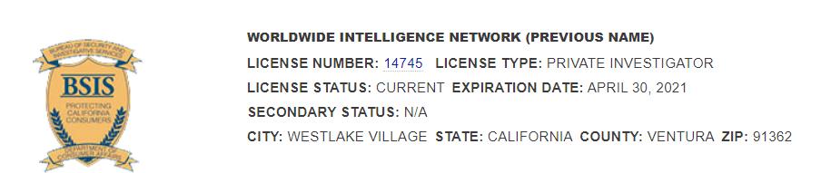 california private investigator license